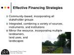 effective financing strategies
