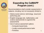 expanding the calmapp program cont