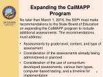 expanding the calmapp program