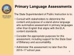 primary language assessments