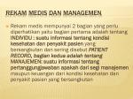 rekam medis dan managemen