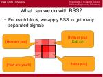 what can we do with bss8