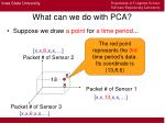 what can we do with pca