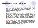 niveles de la comunicaci n