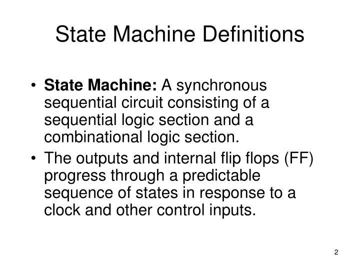 State machine definitions