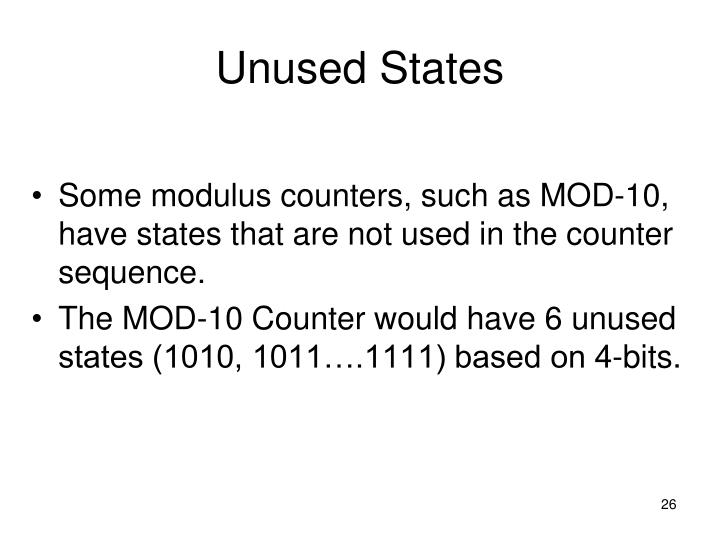 Unused States