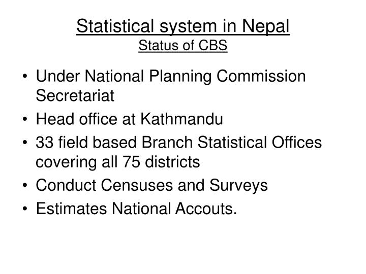 Statistical system in Nepal
