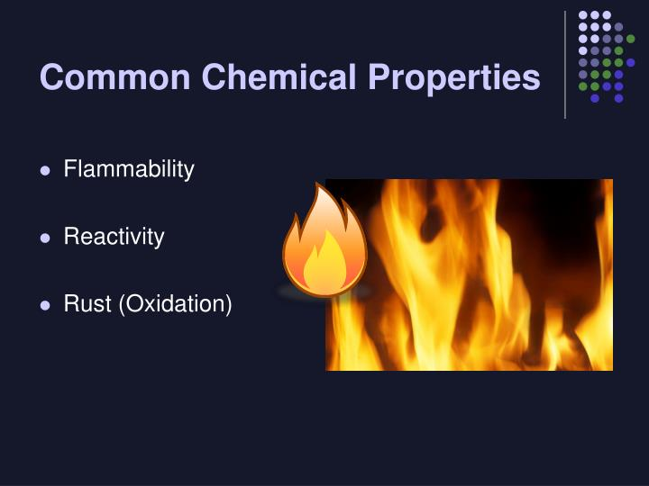 Common Chemical Properties