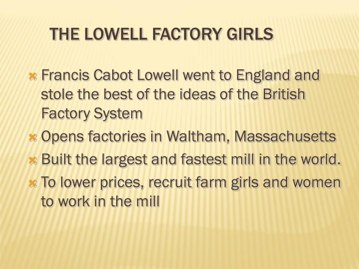The Lowell Factory Girls