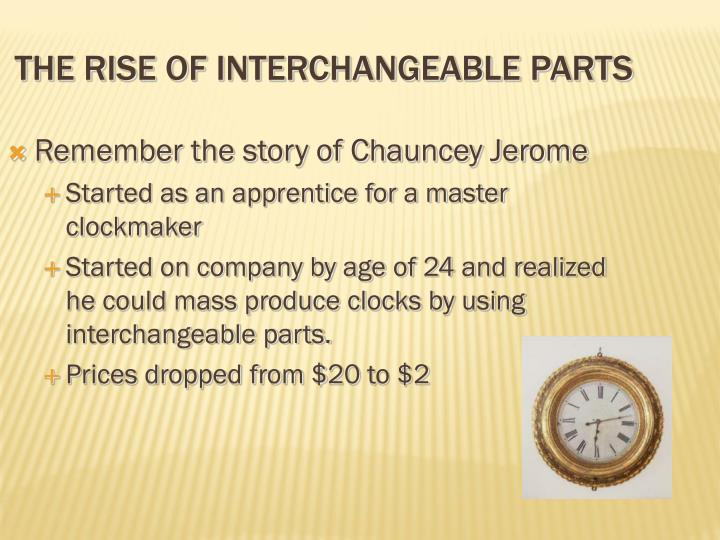 The rise of interchangeable parts