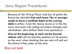 iowa region procedures