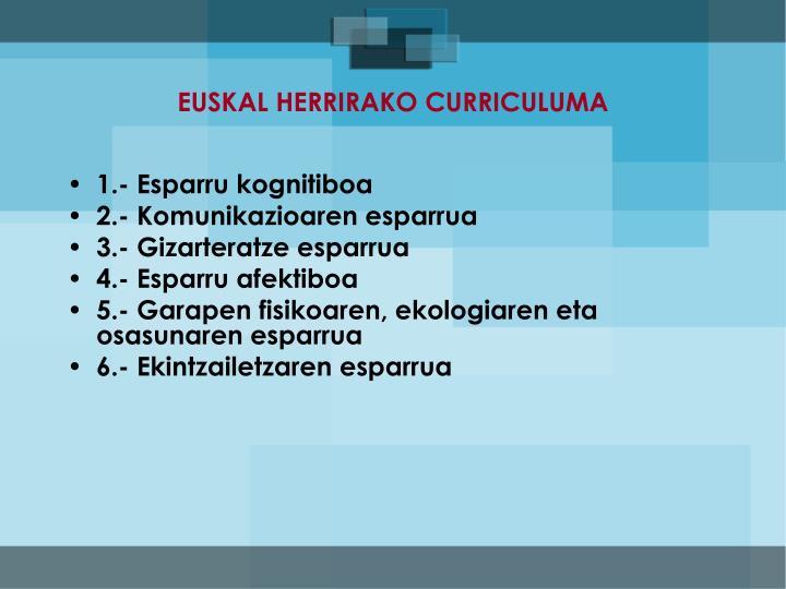 EUSKAL HERRIRAKO CURRICULUMA