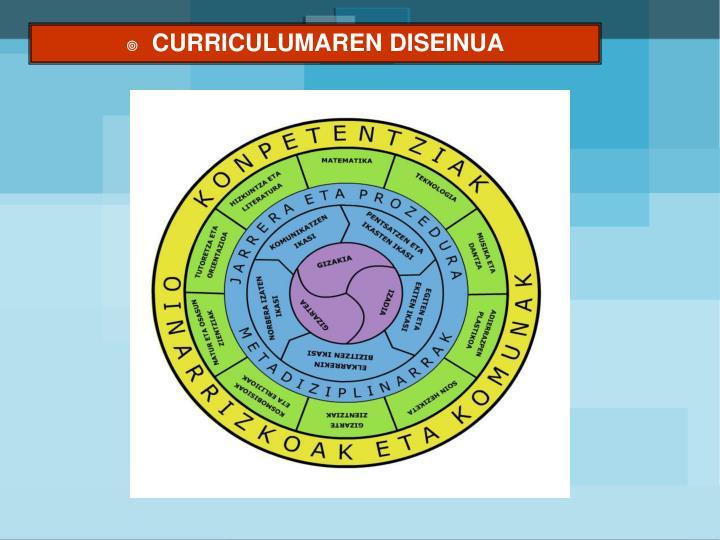 CURRICULUMAREN DISEINUA