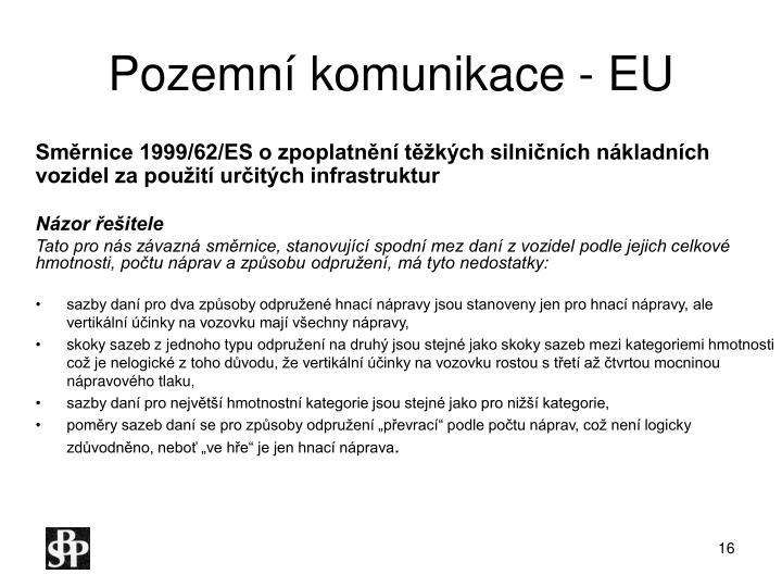 Pozemní komunikace - EU