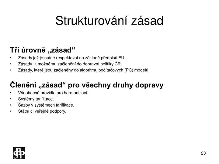 Strukturování zásad
