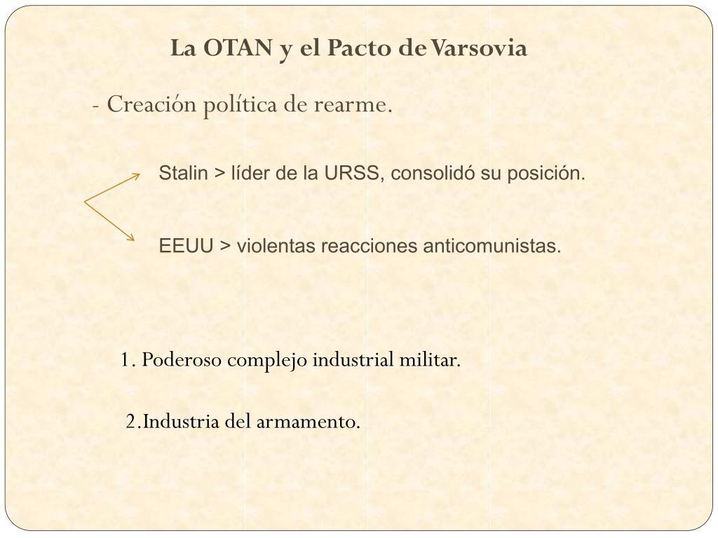 Ppt La Otan Y El Pacto De Varsovia El Equilibrio Del Terror