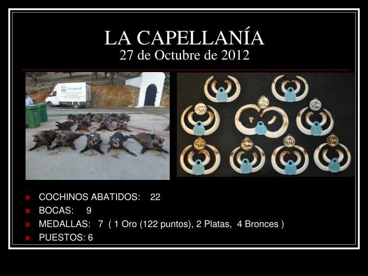 La capellan a 27 de octubre de 2012