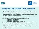 section 4 life stories trajectories