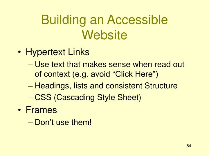 Building an Accessible Website