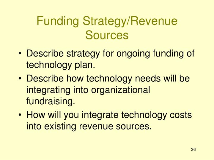 Funding Strategy/Revenue Sources