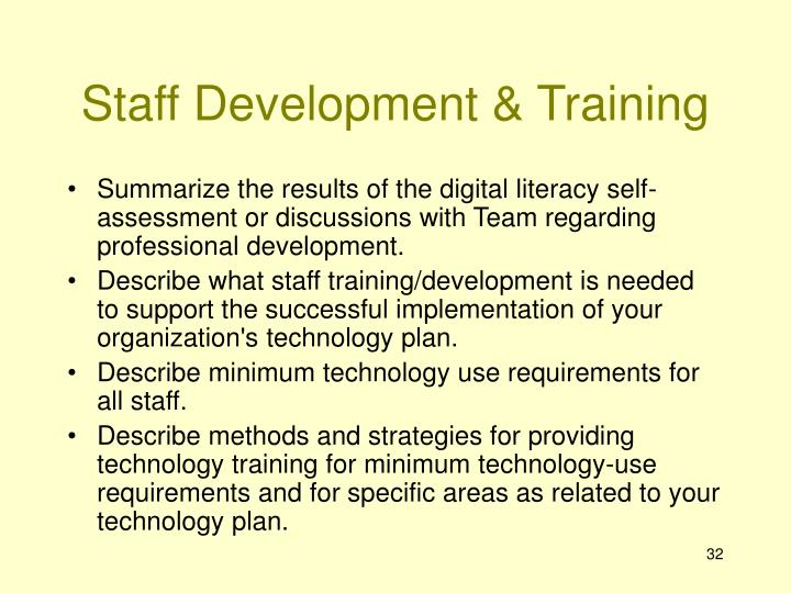 Staff Development & Training