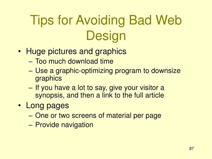 Tips for Avoiding Bad Web Design
