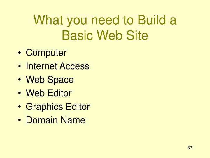 What you need to Build a Basic Web Site