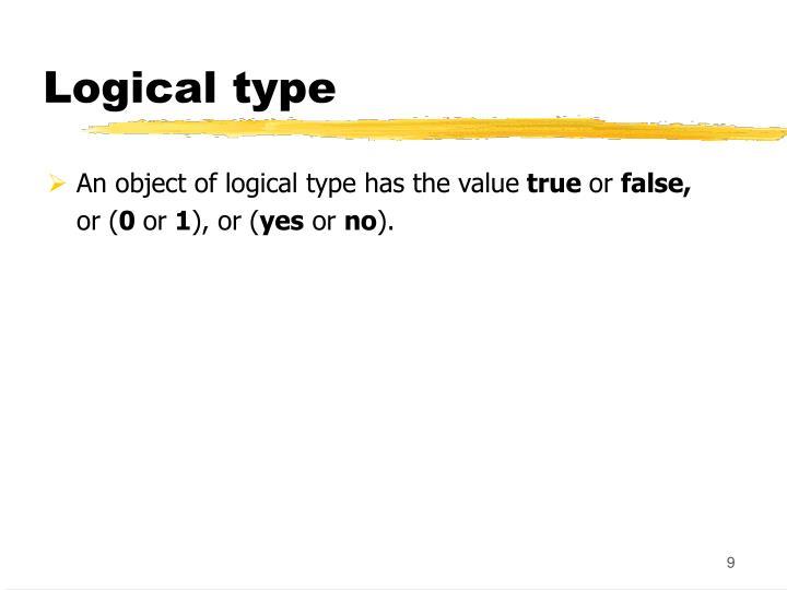 Logical type