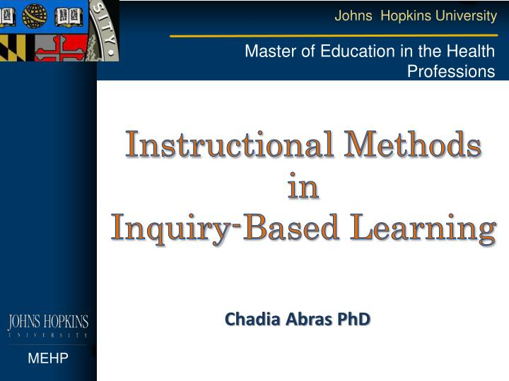 instructional methods in inquiry based learning n.