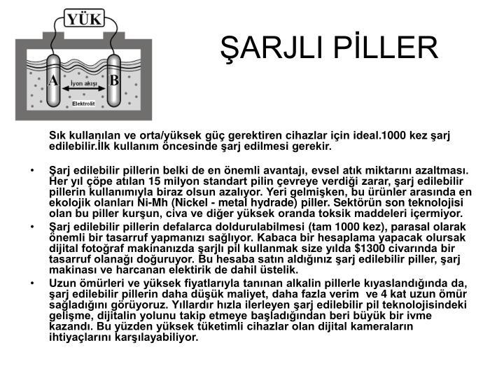 ŞARJLI PİLLER