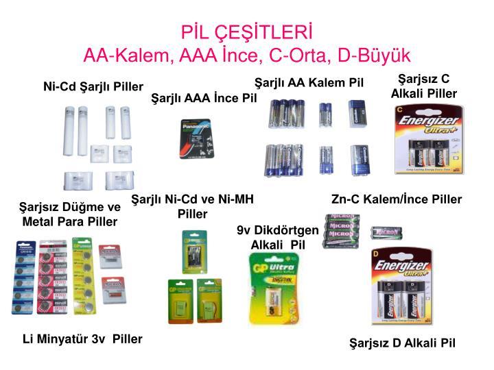 PİL ÇEŞİTLERİ