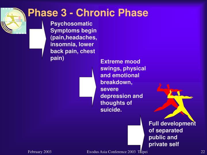 Phase 3 - Chronic Phase