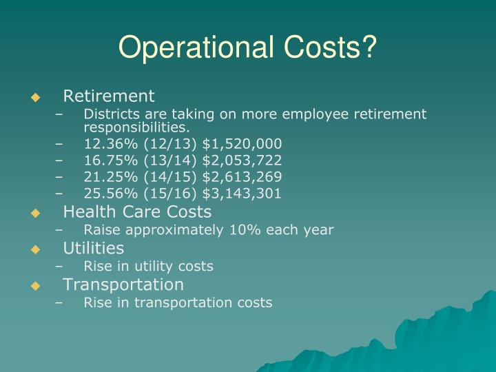 Operational Costs?