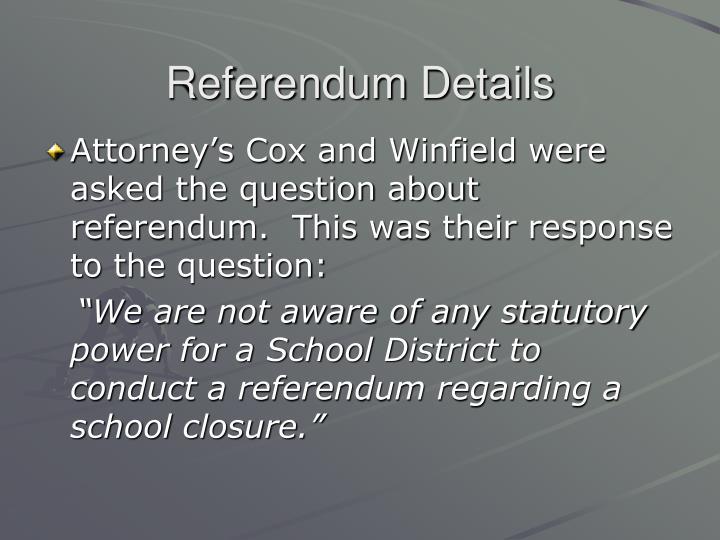 Referendum Details