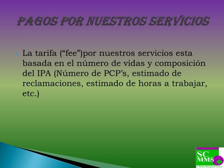 Pagos por Nuestros Servicios