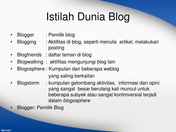 Istilah Dunia Blog