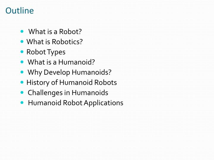 Ppt The Humanoid Robot Powerpoint Presentation Id 7022625