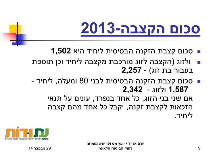 סכום הקצבה-2013