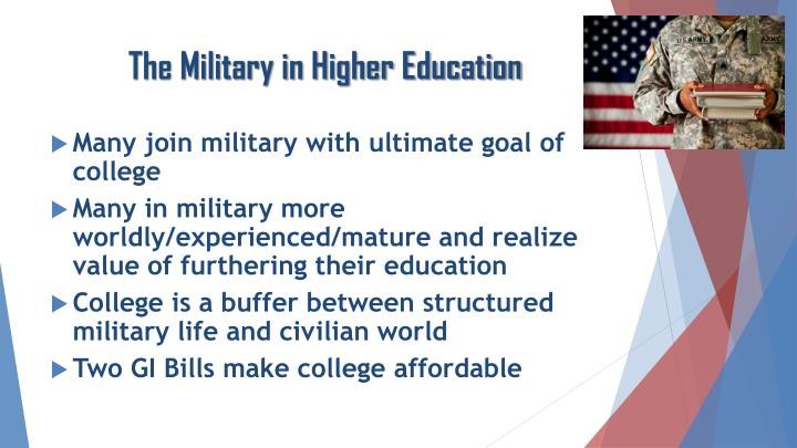 The Military in Higher Education