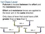 1st class lever