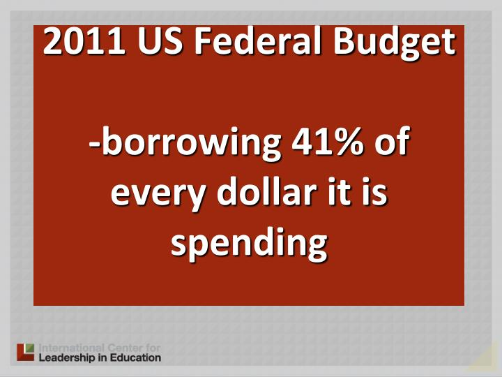2011 US Federal Budget