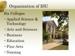 organization of isu