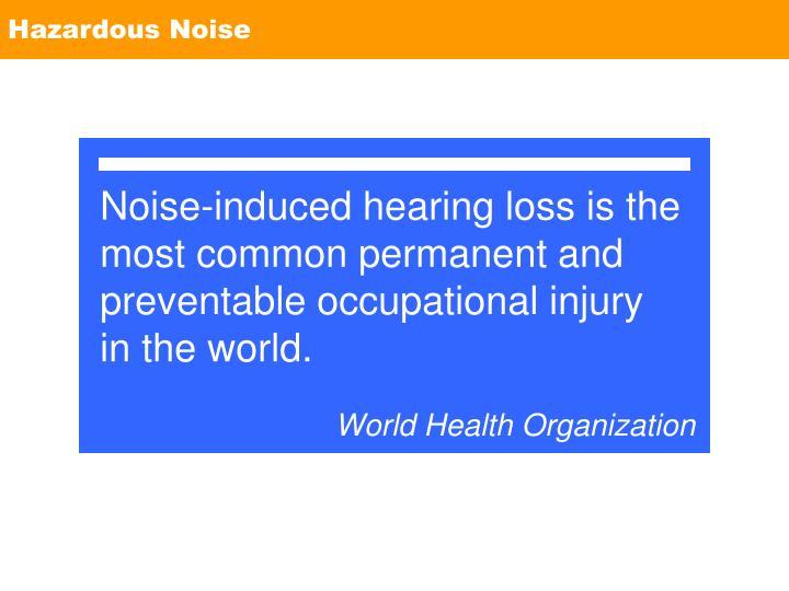 Hazardous Noise