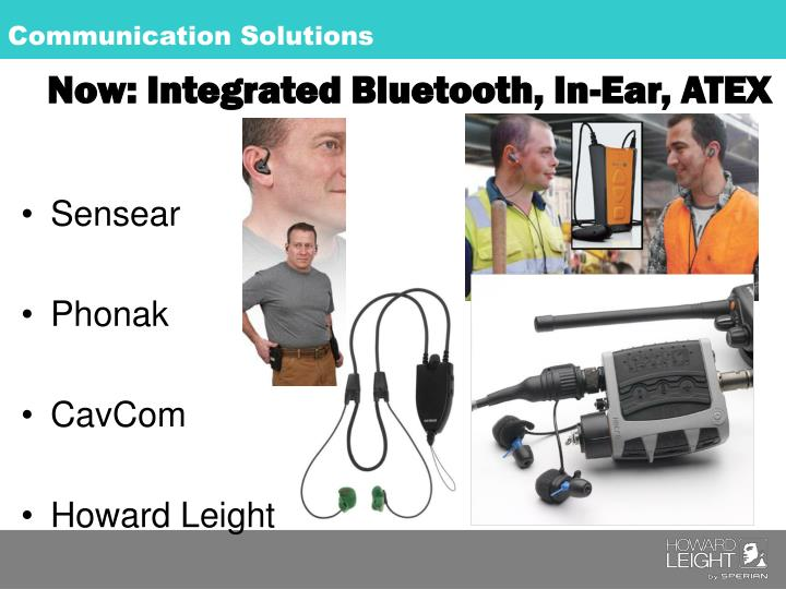 Now: Integrated Bluetooth, In-Ear, ATEX