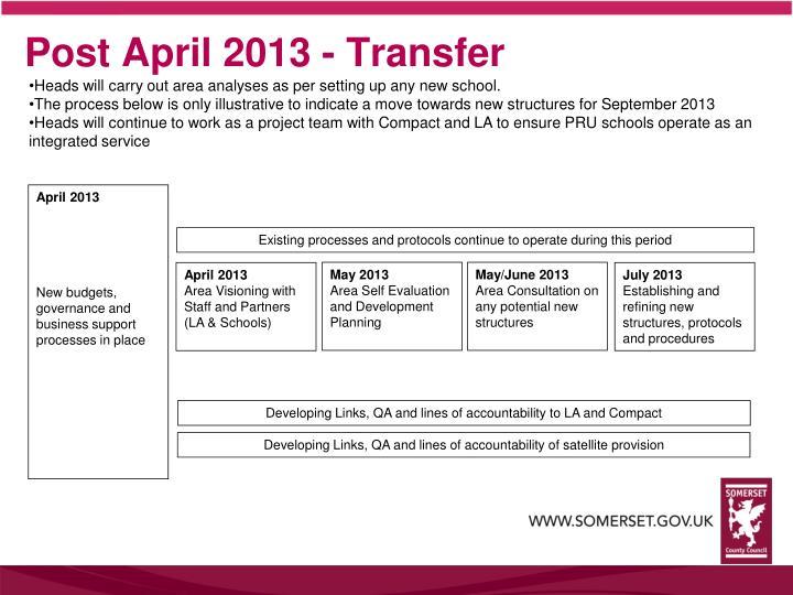 Post April 2013 - Transfer