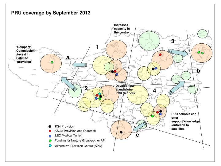 PRU coverage by September 2013