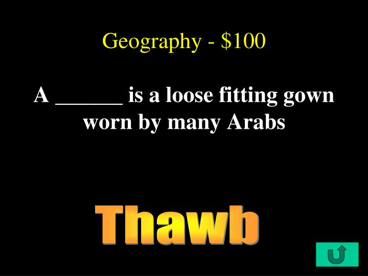 Geography - $100