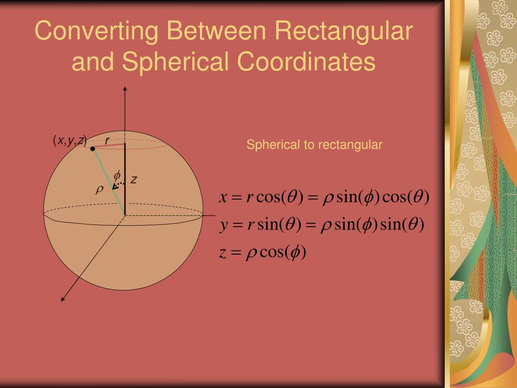 PPT - Cylindrical and Spherical Coordinates PowerPoint