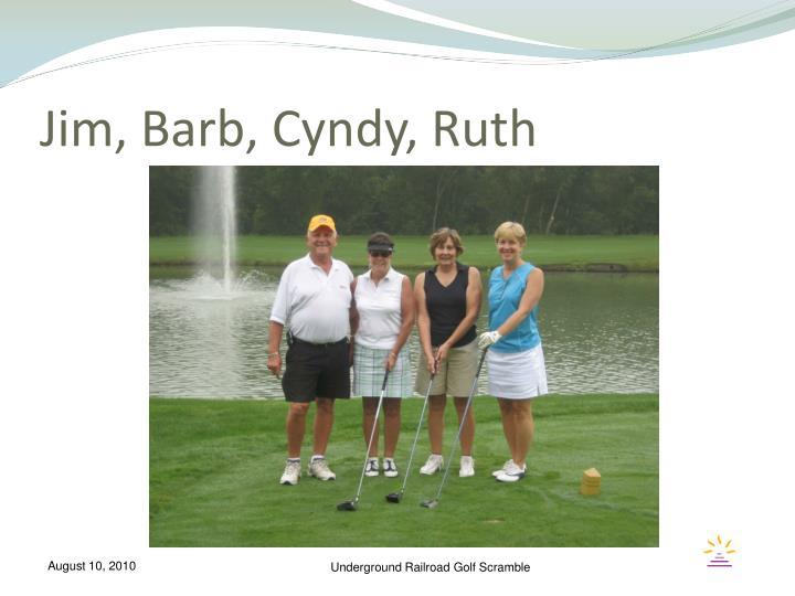 Jim, Barb, Cyndy, Ruth