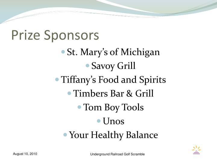 Prize Sponsors